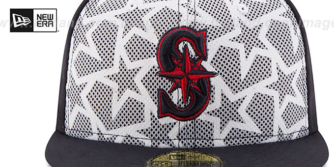 Mariners '2016 JULY 4TH STARS N STRIPES' Fitted Hat by New Era