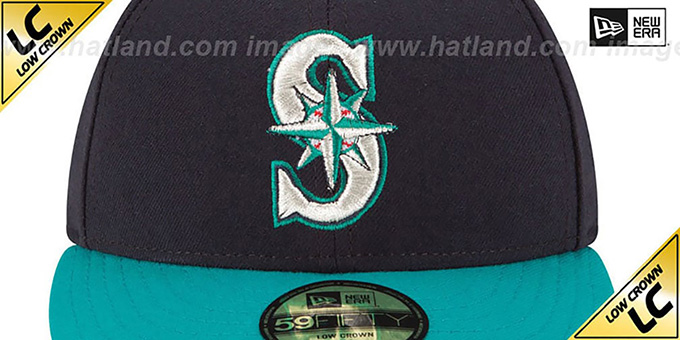 Mariners 'LOW-CROWN' ALTERNATE Fitted Hat by New Era