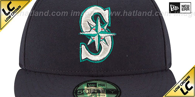 Mariners 'LOW-CROWN' GAME Fitted Hat by New Era