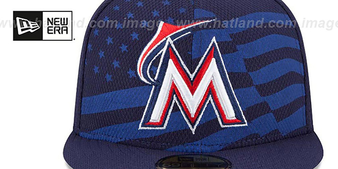 Marlins '2015 JULY 4TH STARS N STRIPES' Hat by New Era