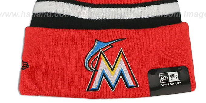 Marlins 'BIG-SCREEN' Knit Beanie Hat by New Era