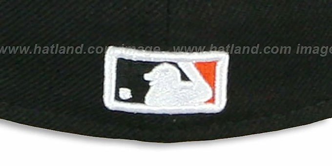 Marlins 'CHENILLE APPLIQUE' Black Fitted Hat by New Era