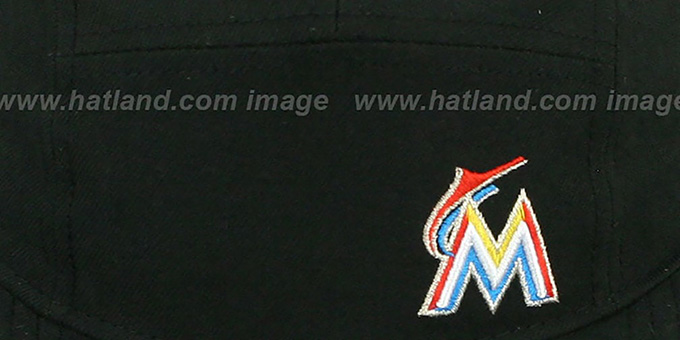 Marlins 'FLAWLESS CAMPER STRAPBACK' Black Hat by New Era
