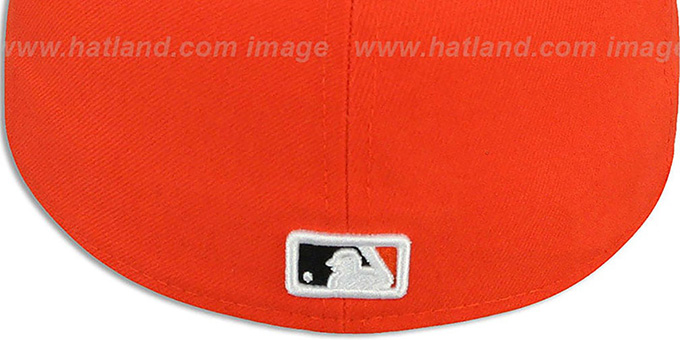 Marlins 'MLB-TIGHT' Orange-Black Fitted Hat by New Era