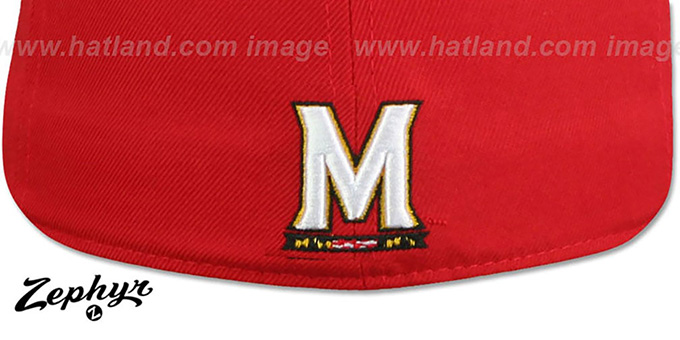 Maryland 'SLIDER' Red Fitted Hat by Zephyr