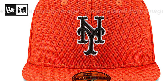 ... Mets  2017 MLB HOME RUN DERBY  Orange Fitted Hat by New Era ... b35fc21f8b4