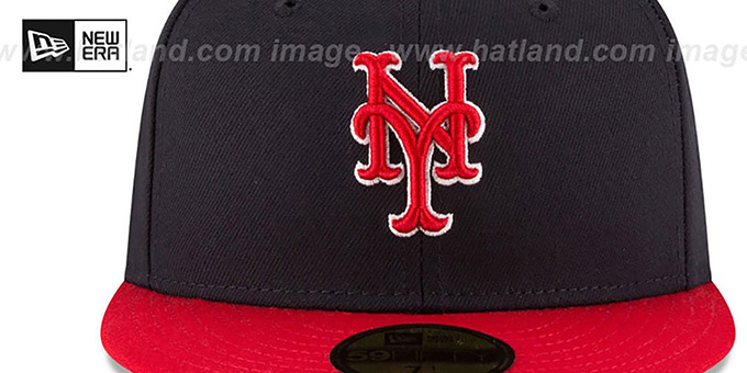 Mets 'COUNTRY COLORS' Navy-Red Fitted Hat by New Era