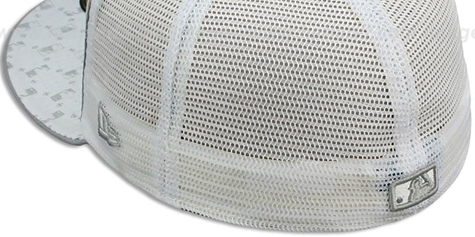 Mets 'MLB FLOCKING' MESH-BACK White Fitted Hat by New Era