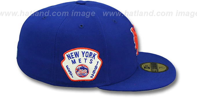 Mets 'SIDE TEAM-PATCH' Royal Fitted Hat by New Era