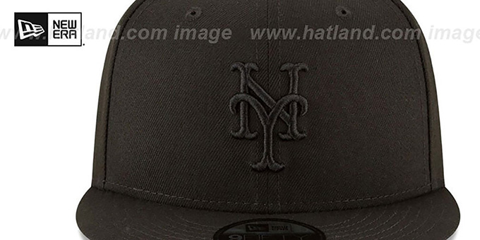 Mets 'TEAM-BASIC BLACKOUT SNAPBACK' Hat by New Era