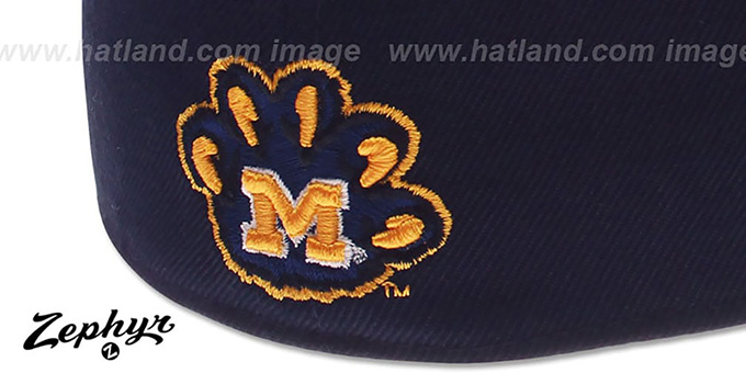 Michigan 'DH' Navy Fitted Hat by Zephyr
