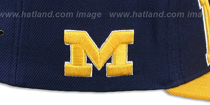 Michigan 'LACROSSE SUPER-ARCH SNAPBACK' Navy-Gold Hat by Zephyr