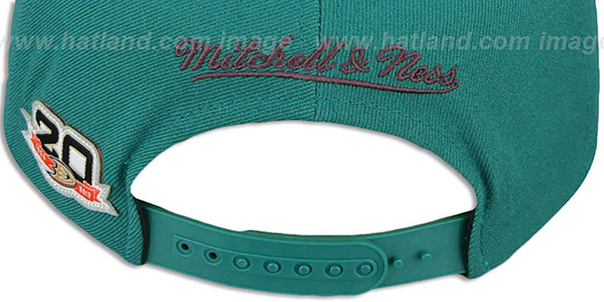 Mighty Ducks 'BASIC VINTAGE SNAPBACK' Teal Hat by Mitchell and Ness