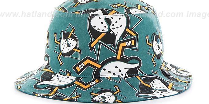 Anaheim Mighty Ducks BRAVADO BUCKET Hat by Twins 47 Brand ab73c399c277