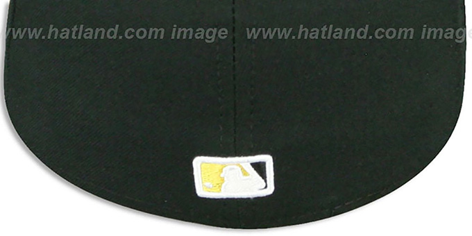 d4f87d10 MLB 2T-FASHION UMPIRE Black-Gold Fitted Hat by New Era
