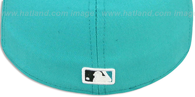 MLB '2T-FASHION UMPIRE' Teal-Black Fitted Hat by New Era