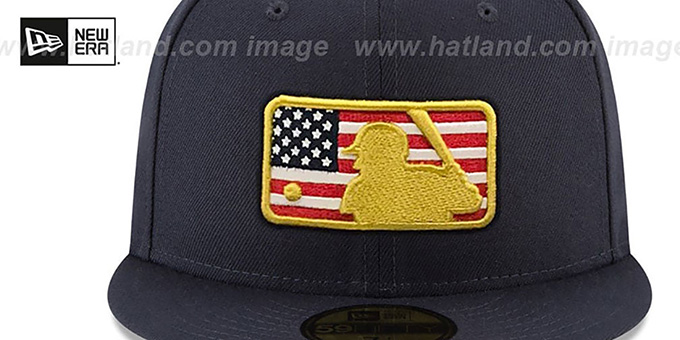 e3614b0e1d9 ... MLB Umpire  2018 JULY 4TH STARS N STRIPES  Navy Fitted Hat by New Era  ...