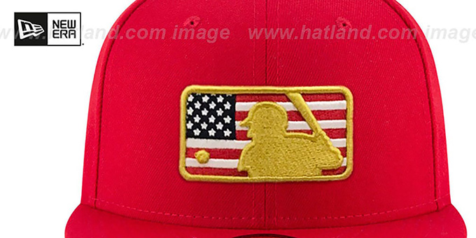 06ea80dd9a1 ... MLB Umpire  2018 JULY 4TH STARS N STRIPES  Red Fitted Hat by New Era ...