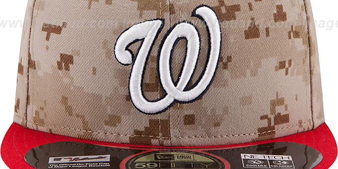 Nationals '2014 STARS N STRIPES' Fitted Hat by New Era