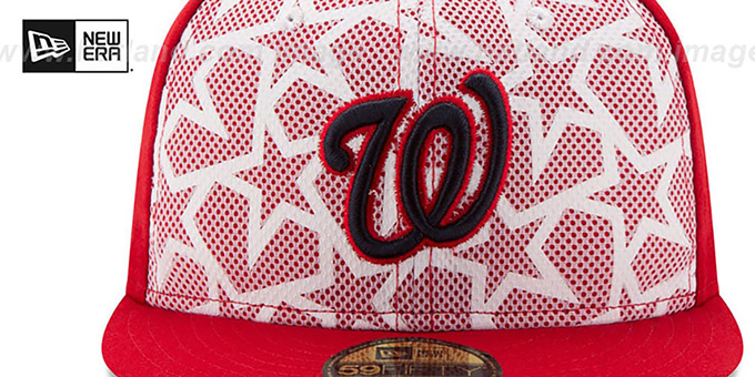 Nationals '2016 JULY 4TH STARS N STRIPES' Fitted Hat by New Era