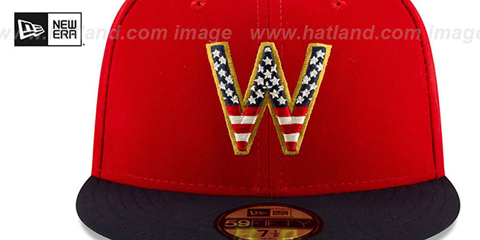 Nationals '2019 JULY 4TH STARS N STRIPES' Fitted Hat by New Era