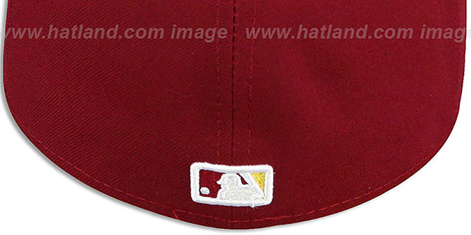 Nationals '2T OPPOSITE-TEAM' Burgundy-Gold Fitted Hat by New Era