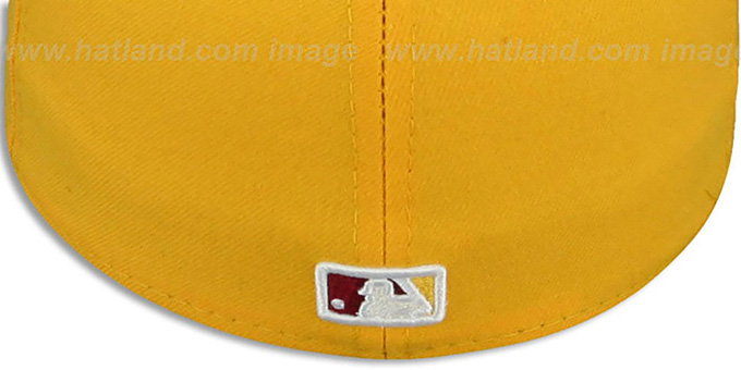 Nationals 2T 'OPPOSITE-TEAM' Gold-Burgundy Fitted Hat by New Era
