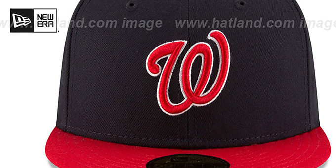 Nationals 'COUNTRY COLORS' Navy-Red Fitted Hat by New Era