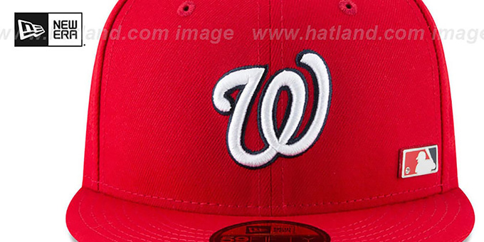 Nationals 'FLAWLESS PINNED-UP' Red Fitted Hat by New Era