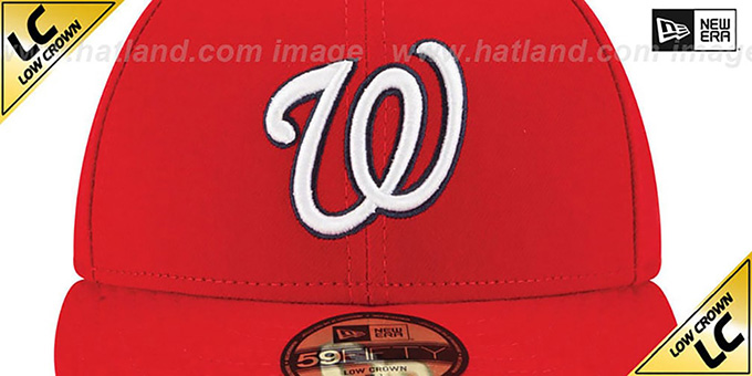 Nationals 'LOW-CROWN' GAME Fitted Hat by New Era