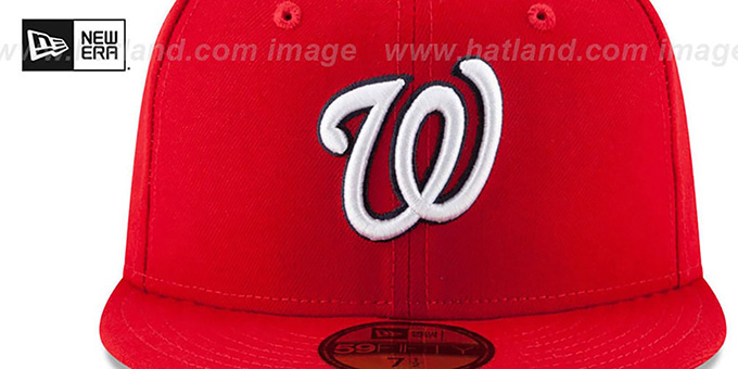 Nationals 'STATE STARE' Red Fitted Hat by New Era