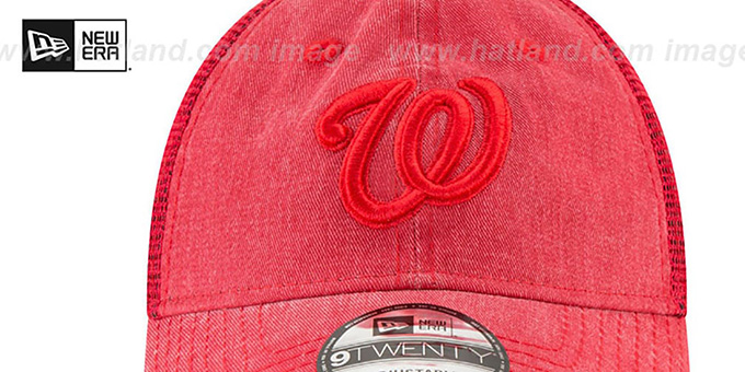 Nationals 'TONAL-WASHED TRUCKER SNAPBACK' Red Hat by New Era