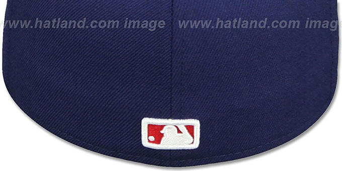 Nationals 'USA WAVING-FLAG' Navy Fitted Hat by New Era