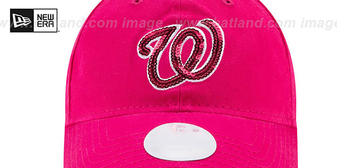 Nationals 'WOMENS MOTHERS DAY GLIMMER STRAPBACK' Pink Hat by New Era