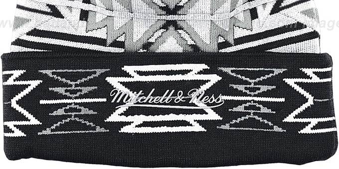 Nets 'GEOTECH' Knit Beanie by Mitchell and Ness