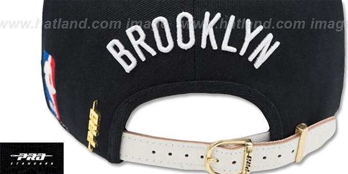 new arrival 6a836 b8a56 ... Nets  HORIZON STRAPBACK  Black-White Hat by Pro Standard ...