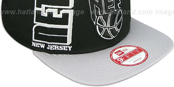Nets 'RALLYMARK SNAPBACK' Black-Grey Hat by New Era