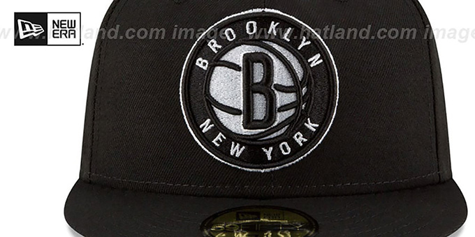 Nets 'TEAM-SUPERB' Black Fitted Hat by New Era
