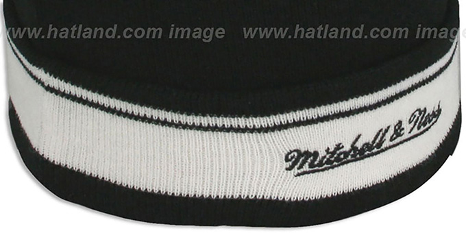 Nets 'XL-LOGO BEANIE' Black by Mitchell and Ness
