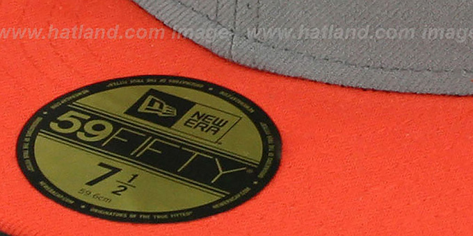 New Era '2T 59FIFTY-BLANK' Grey-Orange Fitted Hat