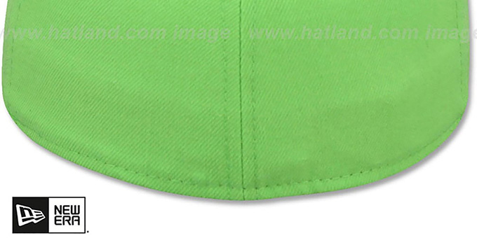 New Era '59FIFTY-BLANK' 2T Lime-Blue Fitted Hat