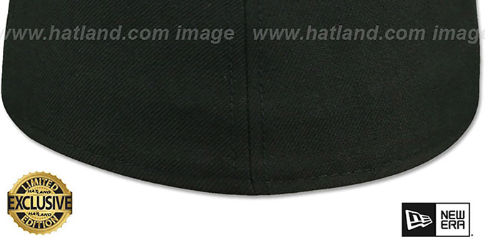 New Era '59FIFTY-BLANK PATENT VIZA' Black-Sky Fitted Hat