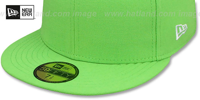 eb6017cc8 New Era 59FIFTY-BLANK Solid Lime Fitted Hat