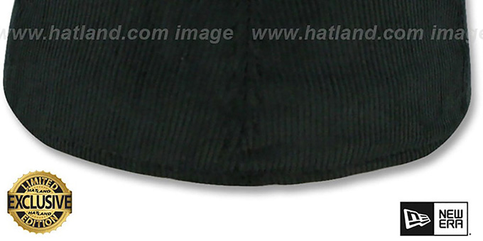 New Era 'CORDUROY 59FIFTY-BLANK' Black Fitted Hat