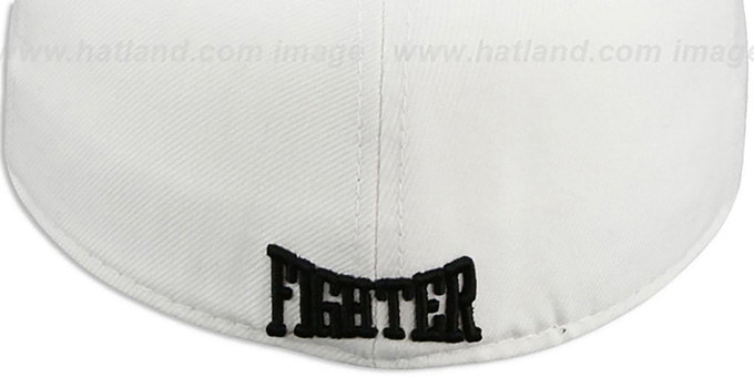 New Era 'KNOCK-OUT' White Fitted Hat