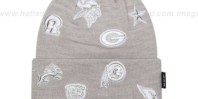 NFL 'NFC TOTAL LOGO' Grey Knit Beanie Hat by New Era