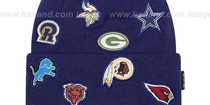 NFL NFC TOTAL LOGO Royal Knit Beanie Hat by New Era 61d222a09ba4