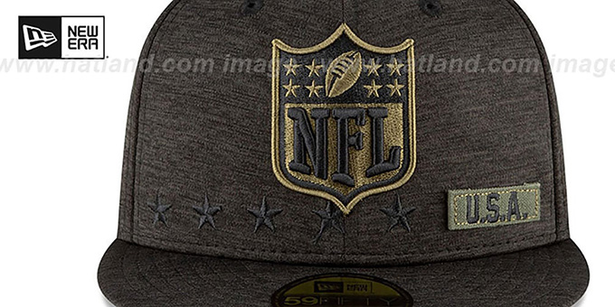 NFL Shield '2020 SALUTE-TO-SERVICE' ST Black Fitted Hat by New Era