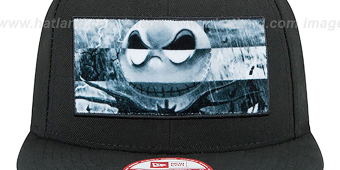 Nightmare Before Christmas 'JACK PANEL' Black Snapback Hat by New Era