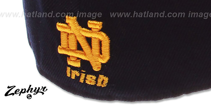 Notre Dame 'DHS X-LINE' Navy Fitted Hat by Zephyr